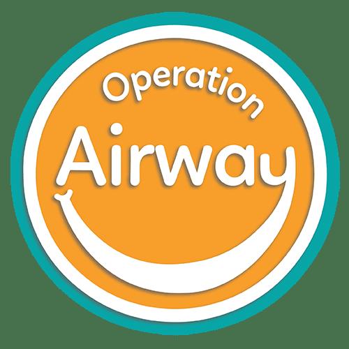 Logotipo de Operation Airway optimizado con borde azul