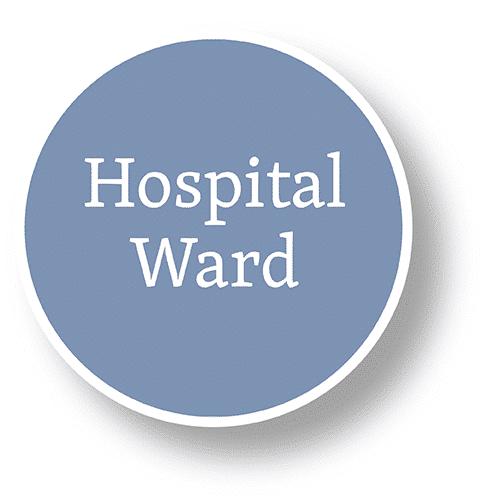 gráfico de burbujas de sala de hospital